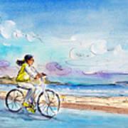 Cycling In Port De Pollenca In Majorca Art Print