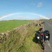 Cycling To The Rainbow Art Print