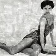 Cyd Charisse Hollywood Actress And Dancer Art Print