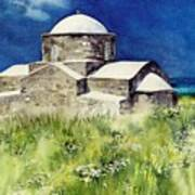 Cyprus The Old Church Art Print