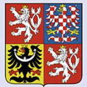 Czech Republic Coat Of Arms Art Print