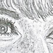 D D Eyes Art Print by Carol Wisniewski