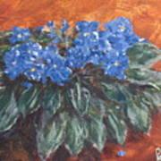 D Violets Art Print