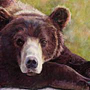 Da Bear Art Print by Billie Colson