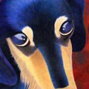Dachshund - Oscar The Shelter Dog Art Print