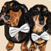 Dachshunds And Bowties Art Print