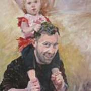 Daddy Ride Art Print