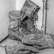 Dads Boots Art Print