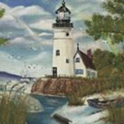 Dads Lighthouse Art Print