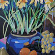 Daffodills And Fruit Art Print