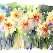 Daffodil's Dancing Art Print