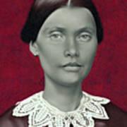 Daguerreotype Lady Detail Art Print