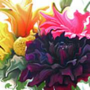 Dahlia Bouquet Art Print