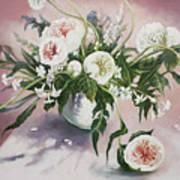 Dahlia Vase  Art Print