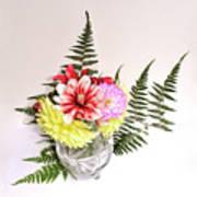 Dahlia Vase Still Life Art Print