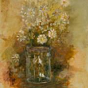 Daisies In A Jar Art Print