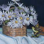 Daisies In Still Life Art Print