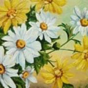 Daisies In The Sky Art Print