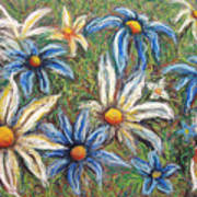 Daisies Pastel Art Print