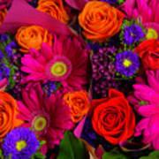 Daisy Rose Bouquet Art Print