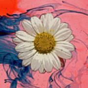 Daisy Swirls 1 Art Print
