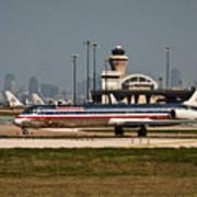 Dallas Airport And Skyline Art Print