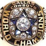 Dallas Cowboys First Super Bowl Ring Art Print
