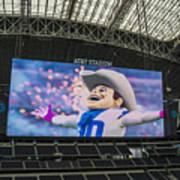 Dallas Cowboys Rowdy Art Print