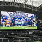 Dallas Cowboys Take The Field Art Print
