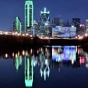 Dallas Dark Blue Night Art Print