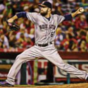 Dallas Keuchel Baseball Art Print
