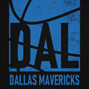 Dallas Mavericks City Poster Art Art Print