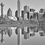 Dallas Monochrome Art Print