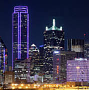 Dallas Purple Night 71417 Art Print