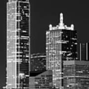 Dallas Shapes Monochrome Art Print