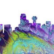 Dallas Skyline 4 Art Print