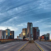 Dallas View At Dusk Art Print