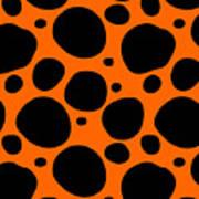 Dalmatian  Black Pattern 03-p0173 Art Print