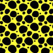 Dalmatian  Black Pattern 05-p0173 Art Print