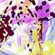 Dalmatian Dog Snow Bland And White  Art Print