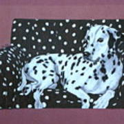 Dalmatian On A Spotted Couch Art Print