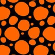 Dalmatian Pattern With A Black Background 03-p0173 Art Print