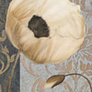 Damask Poppy Art Print