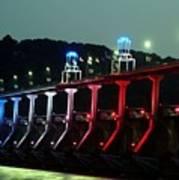 Damm River Bridge Art Print