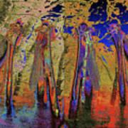 Damsel Fly In The Burning Rainforest Art Print