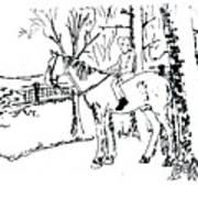 Dan And Horse 11 Art Print