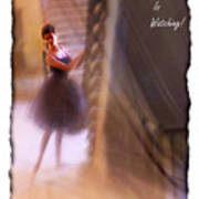 Dance As If No-one Is Watching. Art Print