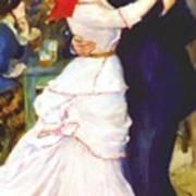 Dance At Bougival 1883 Art Print