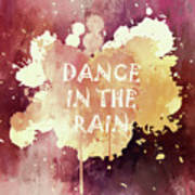Dance In The Rain Red Version Art Print