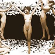 Dance Of The Seven Nudes Art Print